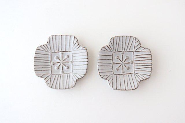 白マット豆皿 ROSETTE 陶器 葛西国太郎 画像5