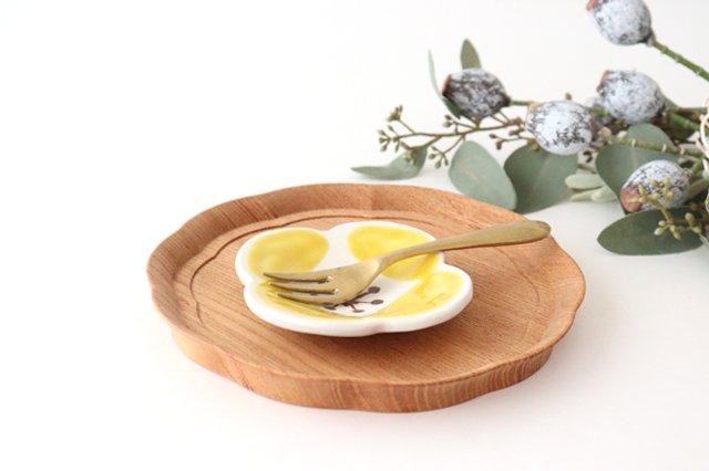 色絵豆皿 芥子 黄 陶器 葛西国太郎 画像4