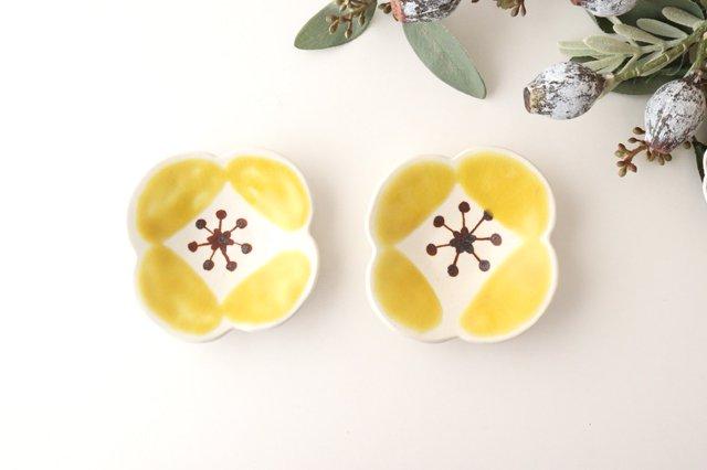 色絵豆皿 芥子 黄 陶器 葛西国太郎 画像5