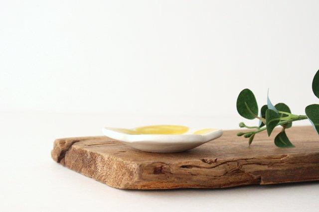 色絵豆皿 芥子 黄 陶器 葛西国太郎 画像6