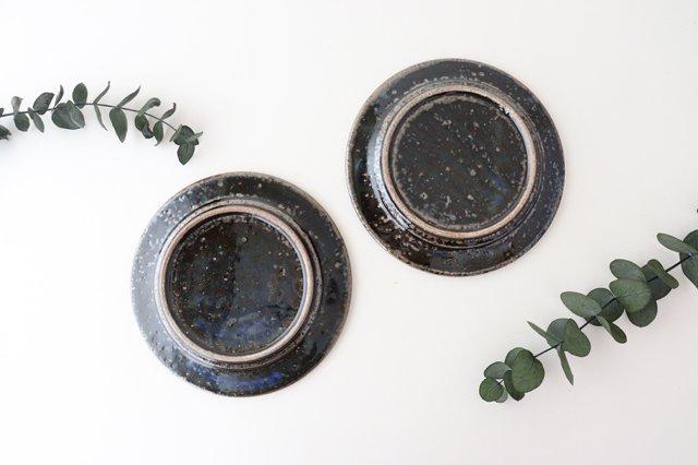 ナナメしのぎプレート 5.5寸 ルリ 陶器 伊藤豊 画像5