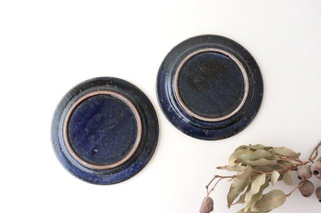 ナナメしのぎプレート 6.5寸 ルリ 陶器 伊藤豊 画像3
