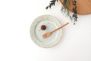 ナナメしのぎプレート 5.5寸 粉引 陶器 伊藤豊商品画像