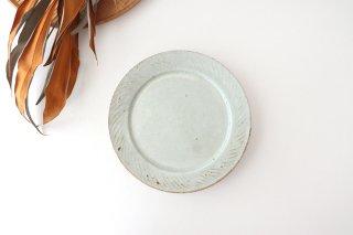 ナナメしのぎプレート 6.5寸 粉引 陶器 伊藤豊商品画像