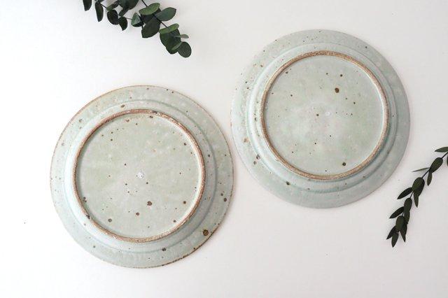 ナナメしのぎプレート 7.5寸 粉引 陶器 伊藤豊 画像2