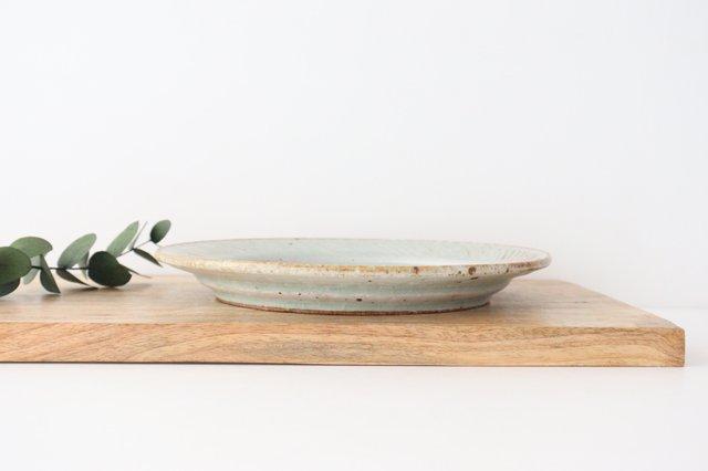 ナナメしのぎプレート 7.5寸 粉引 陶器 伊藤豊 画像3
