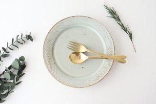 ナナメしのぎプレート 7.5寸 粉引 陶器 伊藤豊商品画像