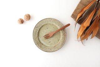 ナナメしのぎプレート 5.5寸 もえぎ 陶器 伊藤豊商品画像