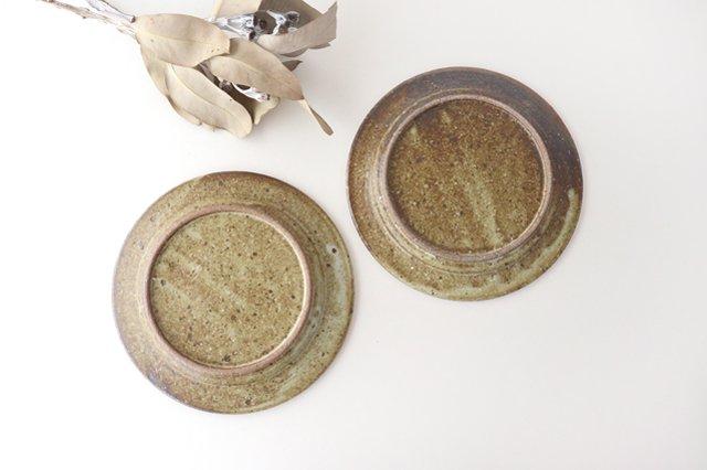 ナナメしのぎプレート 6.5寸 もえぎ 陶器 伊藤豊 画像2