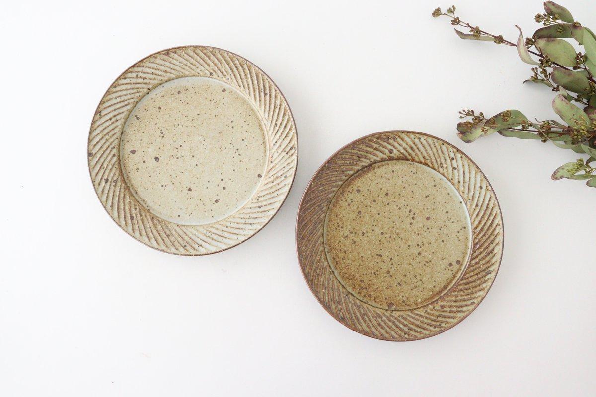 ナナメしのぎプレート 6.5寸 もえぎ 陶器 伊藤豊 画像4