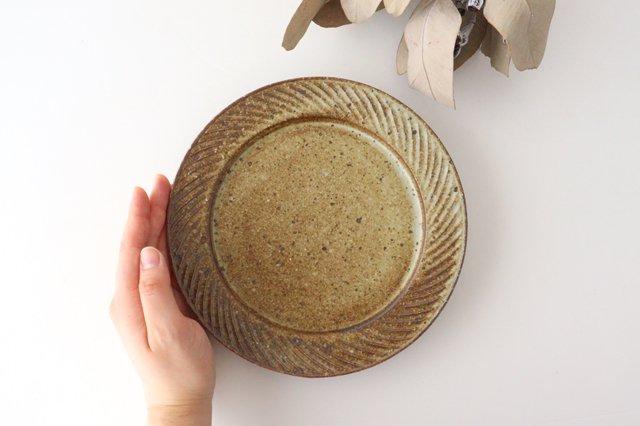 ナナメしのぎプレート 6.5寸 もえぎ 陶器 伊藤豊 画像5