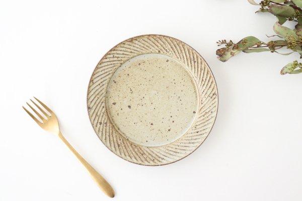 ナナメしのぎプレート 6.5寸 もえぎ 陶器 伊藤豊商品画像