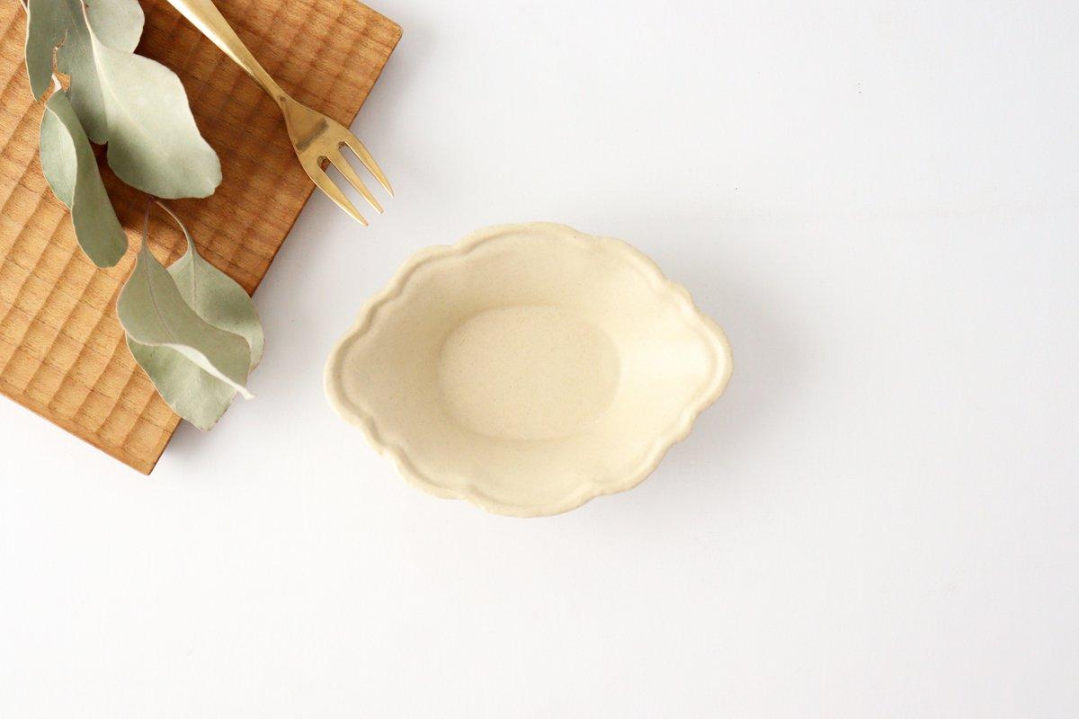 レモン小鉢 小 白 陶器 O然レ窯