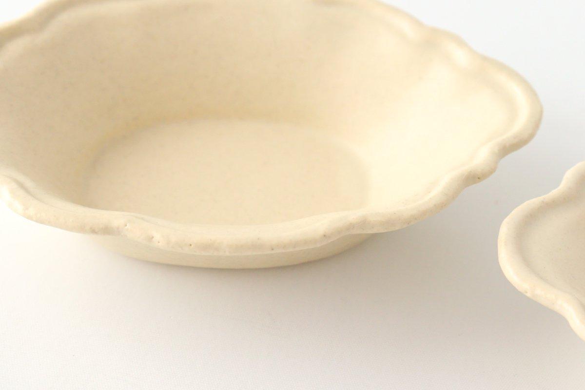 レモン小鉢 小 白 陶器 O然レ窯 画像2