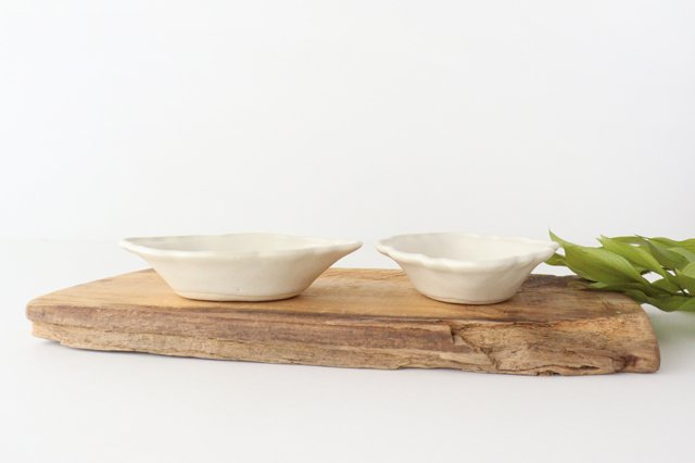 レモン小鉢 小 白 陶器 O然レ窯 画像6