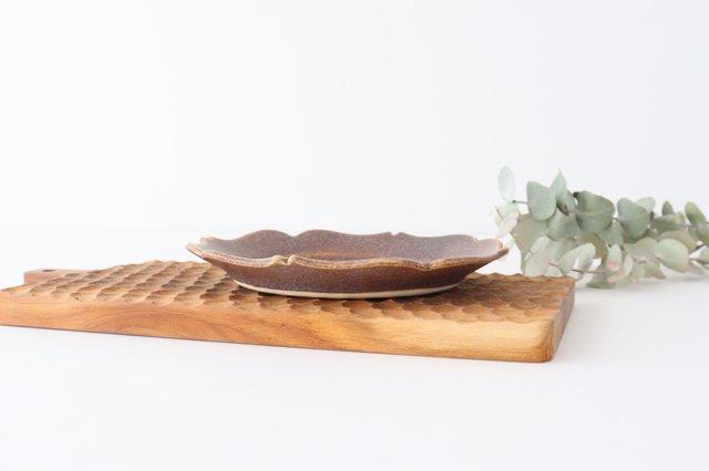 輪花皿 中 あずき 陶器 O然レ窯 画像5