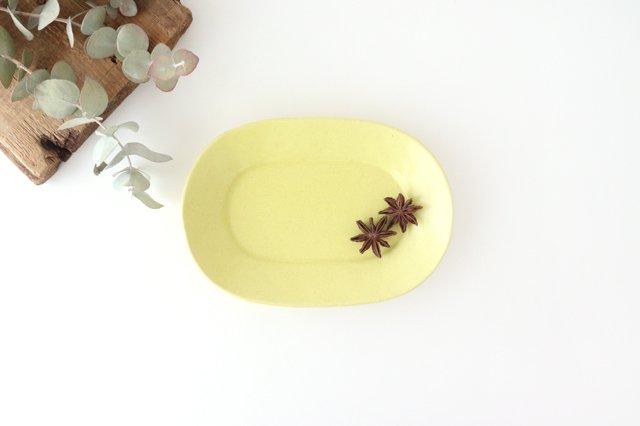 オーバル皿 小 黄 陶器 O然レ窯
