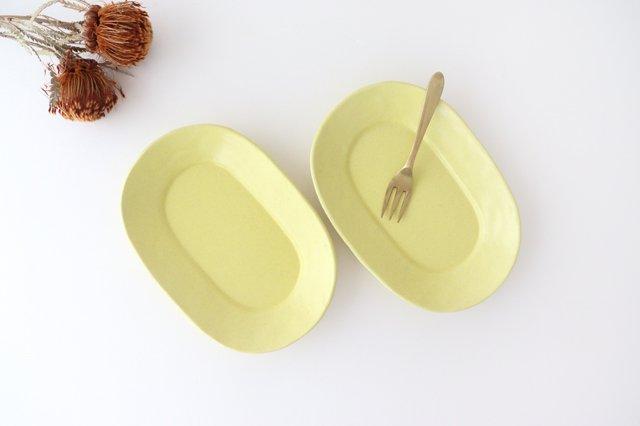 オーバル皿 小 黄 陶器 O然レ窯 画像3
