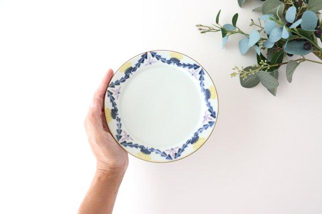 5寸リム皿 タンポポとれんげ 磁器 皐月窯 砥部焼 画像3