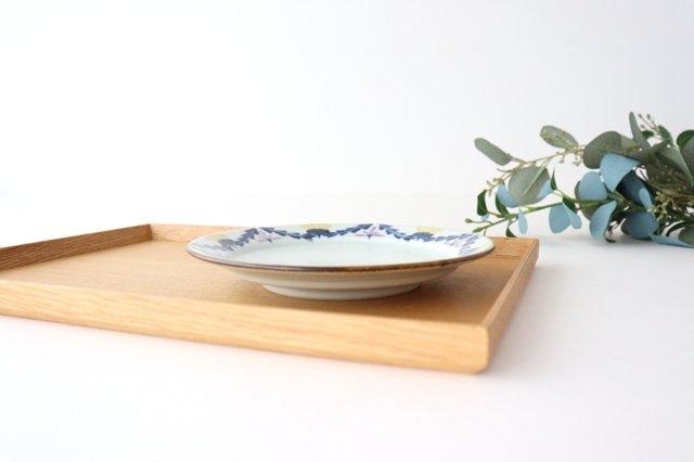 5寸リム皿 タンポポとれんげ 磁器 皐月窯 砥部焼 画像4