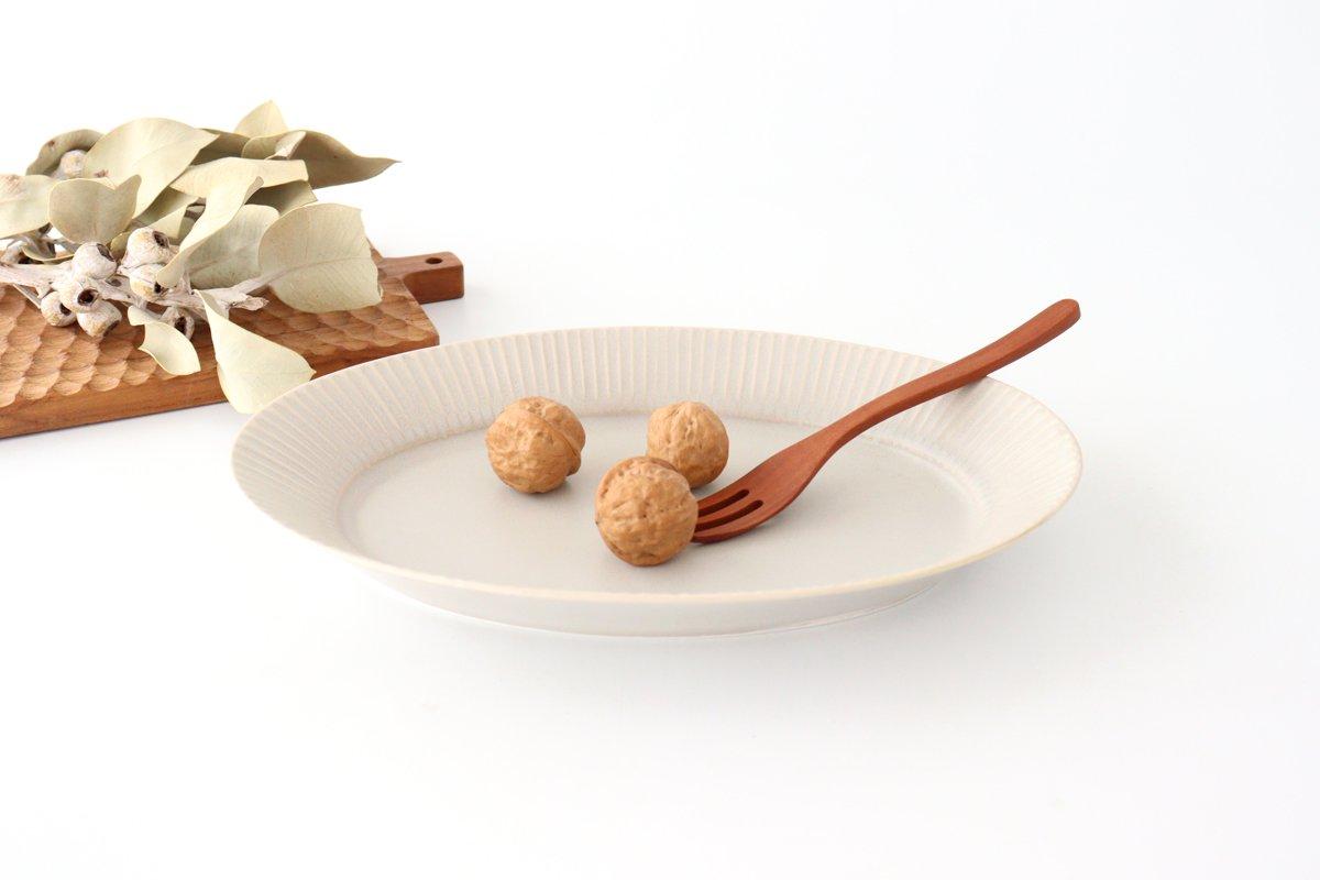 しのぎオーバル皿 L シャーベットグレー 磁器 皓洋窯 有田焼 画像3