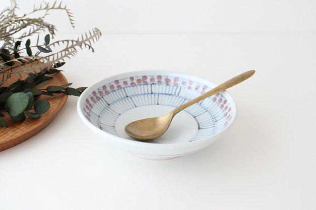古砥部 6寸深皿 花垣文 半磁器 陶彩窯 砥部焼 画像2