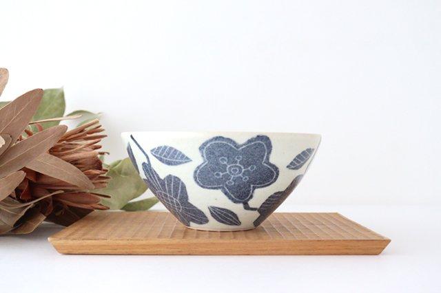和紙染 花 深鉢 陶器 陶彩窯 砥部焼 画像2