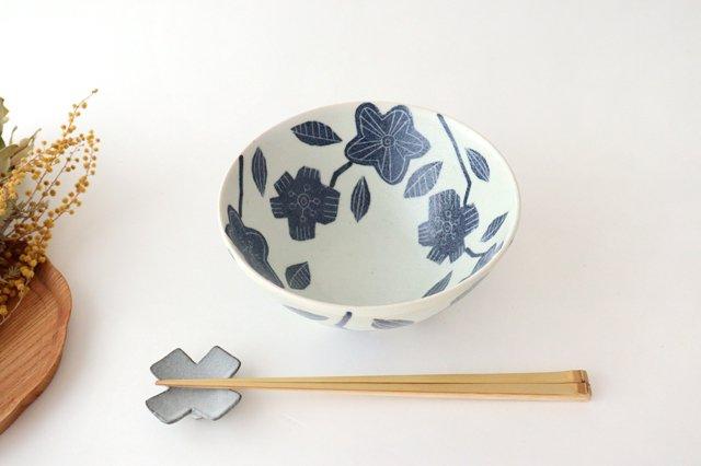 和紙染 花 深鉢 陶器 陶彩窯 砥部焼 画像3