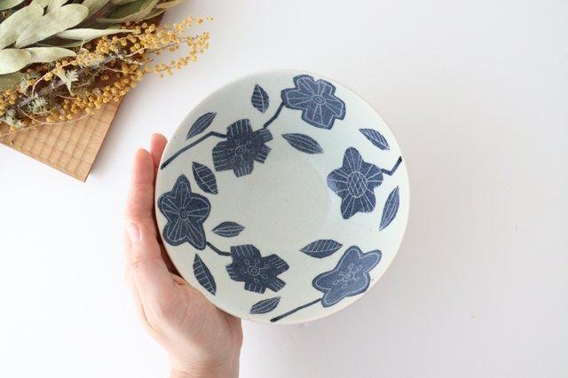 和紙染 花 深鉢 陶器 陶彩窯 砥部焼 画像4