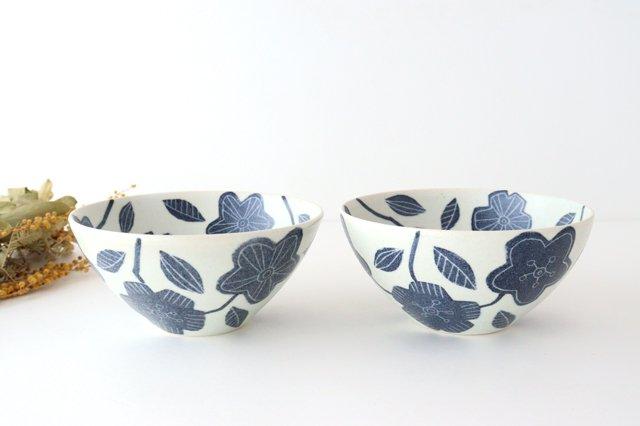和紙染 花 深鉢 陶器 陶彩窯 砥部焼 画像5