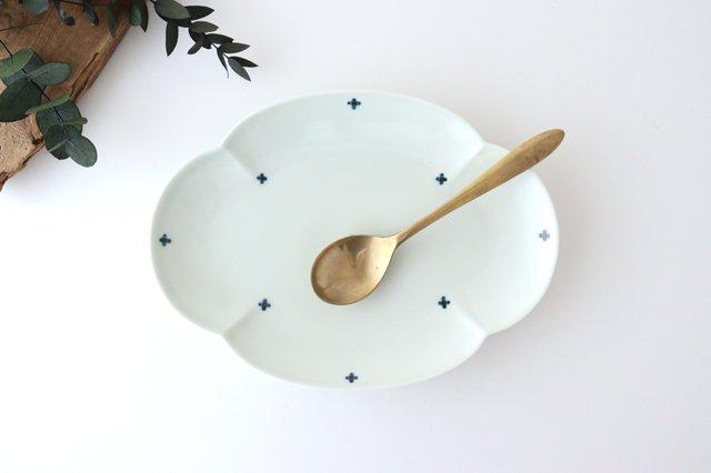 楕円木甲皿 25.5cm 青プラス 磁器 有田焼