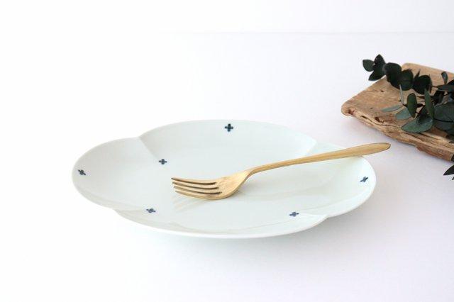 楕円木甲皿 25.5cm 青プラス 磁器 有田焼 画像3