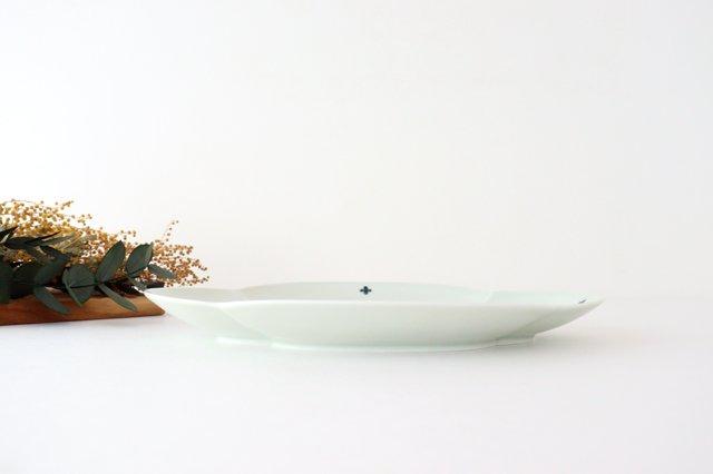 楕円木甲皿 25.5cm 青プラス 磁器 有田焼 画像4