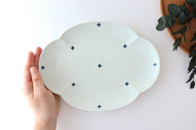 楕円木甲皿 25.5cm 青プラス 磁器 有田焼 画像5