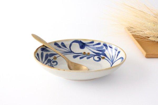 オーバルボウル 巻唐草 陶器 藍ブルー 波佐見焼商品画像