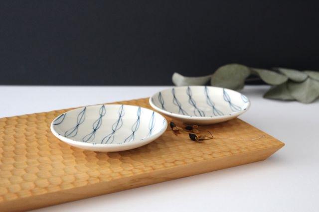 豆皿 リーフ 陶器 村田亜希 画像2