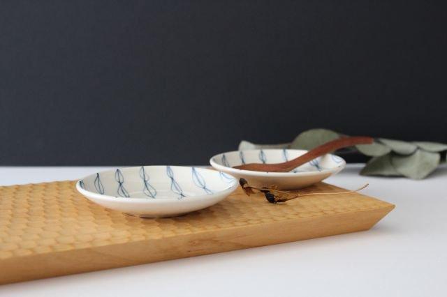 豆皿 リーフ 陶器 村田亜希 画像3