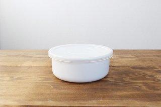 ホーロー保存容器 ホワイトシリーズ ラウンド 14cm 野田琺瑯商品画像