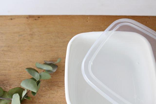 WhiteSeries ホーロー保存容器 スクエア M 野田琺瑯 画像2