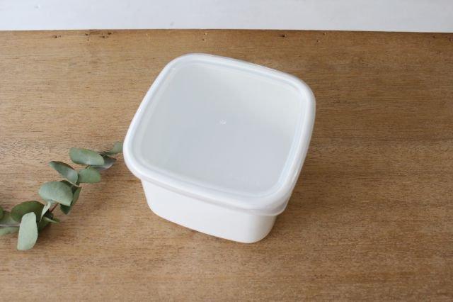 WhiteSeries ホーロー保存容器 スクエア M 野田琺瑯 画像3