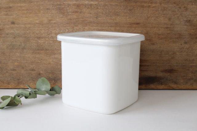 WhiteSeries ホーロー保存容器 スクエア L 野田琺瑯