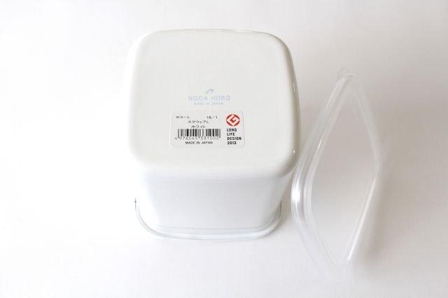 WhiteSeries ホーロー保存容器 スクエア L 野田琺瑯 画像3