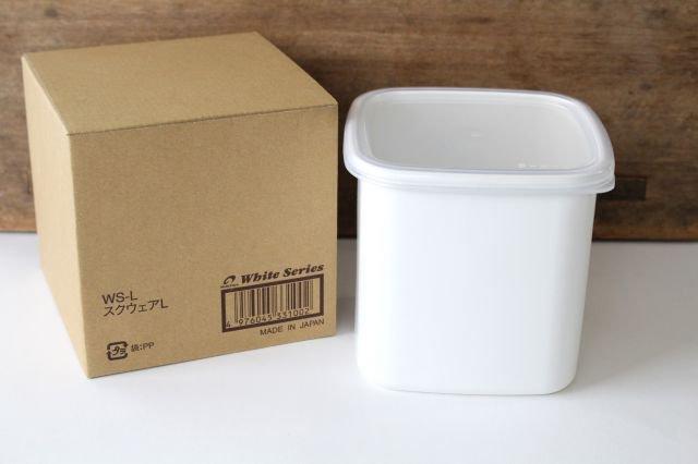 WhiteSeries ホーロー保存容器 スクエア L 野田琺瑯 画像5