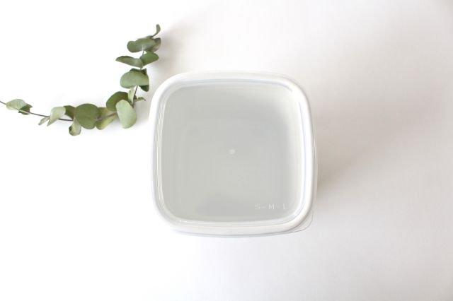 WhiteSeries ホーロー保存容器 スクエア L 野田琺瑯 画像6