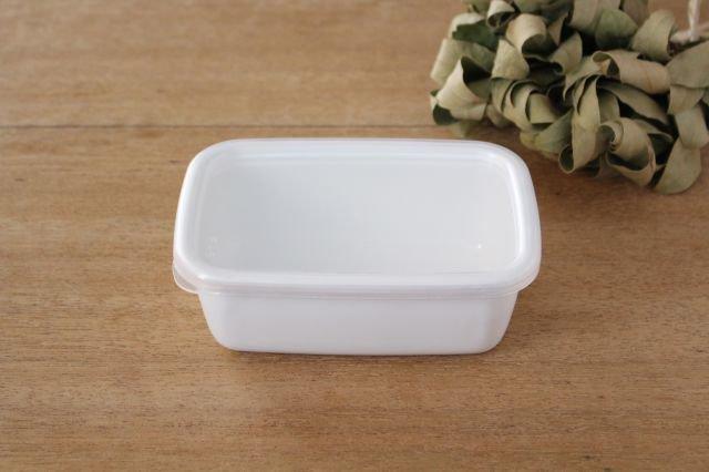 WhiteSeries ホーロー保存容器 レクタングル深型 S 野田琺瑯