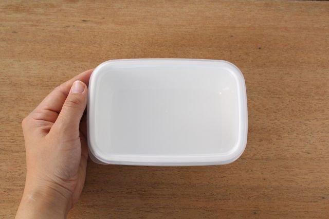 WhiteSeries ホーロー保存容器 レクタングル深型 S 野田琺瑯 画像5