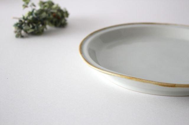 7寸丸皿 ミント 磁器 原村俊之 画像3