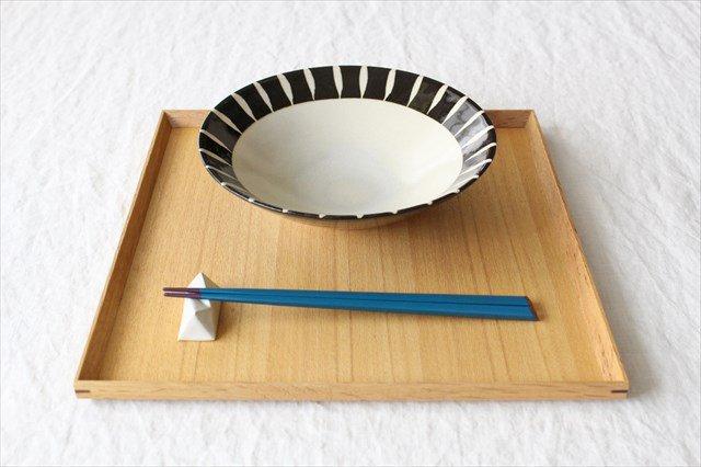 美濃焼 黒化粧十草(とくさ) 平鉢 陶器  画像5