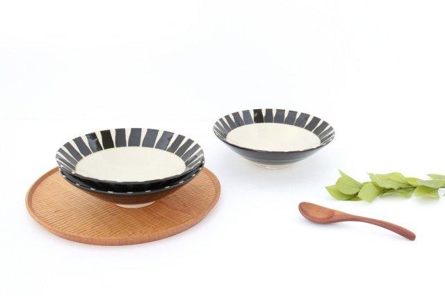 美濃焼 黒化粧十草(とくさ) 平鉢 陶器  画像6