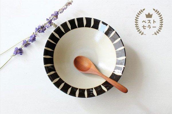 美濃焼 黒化粧十草(とくさ) 平鉢 陶器 商品画像